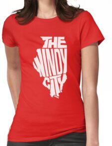 Chicago: The Windy City White Womens Fitted T-Shirt