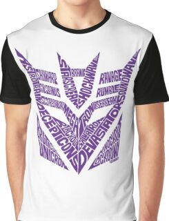 Transformers Decepticons Purple Graphic T-Shirt