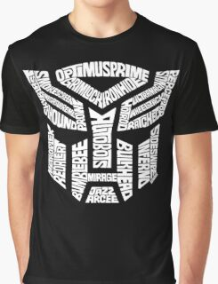 Transformer Autobots White Graphic T-Shirt