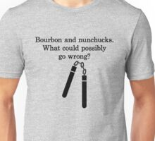Bourbon and Nunchucks Unisex T-Shirt