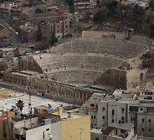 Amphitheatre in Amman Jordan by Ren Provo