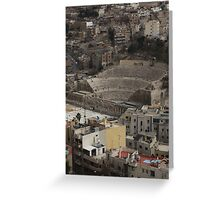 Amphitheatre in Amman Jordan Greeting Card