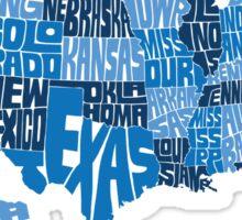 USA States Blue Sticker