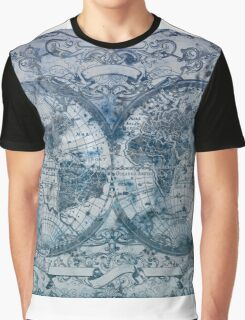 world map antique Graphic T-Shirt
