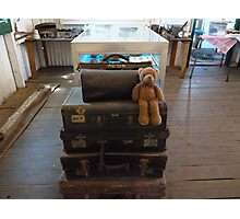 Well, off to see the big wide world ,luggage all ready, hoping Ted get to go in the big puff puff .. we'll see ? Photographic Print