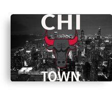 "Chicago Bulls ""Chi Town""  Canvas Print"