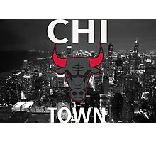 "Chicago Bulls ""Chi Town""  Photographic Print"