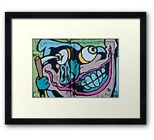 Poke in the Eye with a Grin Graffiti Framed Print