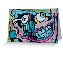 Poke in the Eye with a Grin Graffiti Greeting Card
