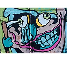 Poke in the Eye with a Grin Graffiti Photographic Print