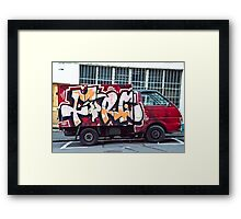 Abstract Graffiti on the side of a truck. Framed Print
