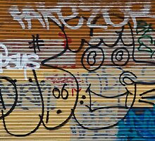 Abstract Graffiti on the Garage Door by yurix