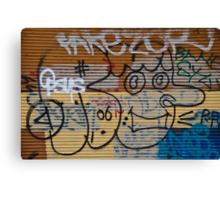 Abstract Graffiti on the Garage Door Canvas Print