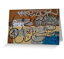 Abstract Graffiti on the Garage Door Greeting Card