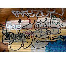 Abstract Graffiti on the Garage Door Photographic Print