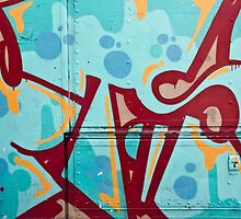 Abstract Graffiti on the Side of a Truck by yurix