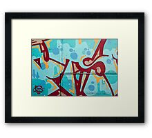 Abstract Graffiti on the Side of a Truck Framed Print