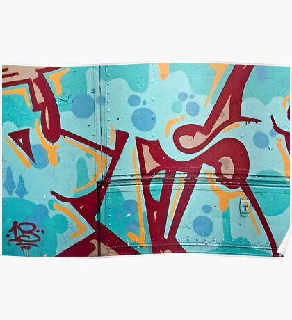 Abstract Graffiti on the Side of a Truck Poster