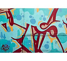 Abstract Graffiti on the Side of a Truck Photographic Print