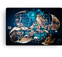 Fish and Batiscaf Graffiti  Canvas Print