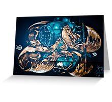 Fish and Batiscaf Graffiti  Greeting Card