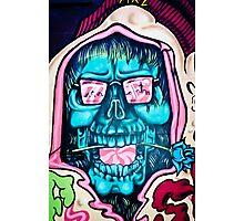 Welcome to Jolly Hallucinogenic 1969. Skull Graffiti  Photographic Print