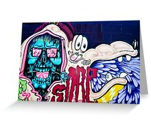 Welcome to Jolly Hallucinogenic 1969. Skull and others Graffiti  Greeting Card
