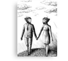 Damaged Androids in Love Canvas Print