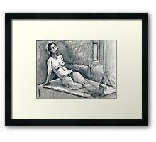 Marie Lise As Odalisque Framed Print