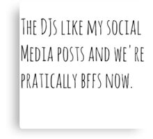 DJs Social Media Canvas Print