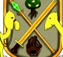 Lemongrab Coat-of-Arms Sticker