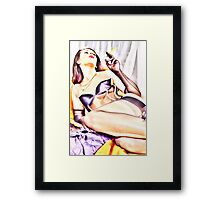 Lady of leisure Framed Print