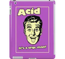 Funny Retro Acid Ad iPad Case/Skin