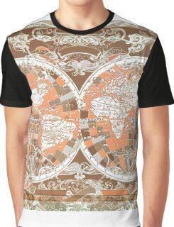 world map antique 2 Graphic T-Shirt