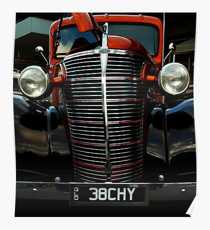 Old Skool 38 Chevy truck Poster