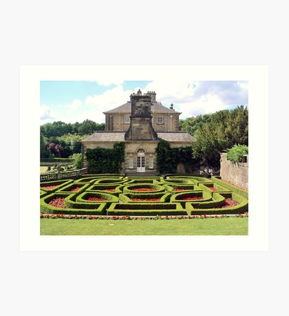 Pollok House and its formal garden Art Print
