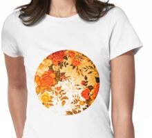 Orange Rose Moon Womens Fitted T-Shirt