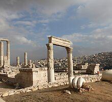 Colossal Roman Statue Fragments in Amman Jordan by Ren Provo