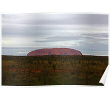A little worn with time - Uluru Poster