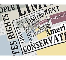 Limited Government Photographic Print