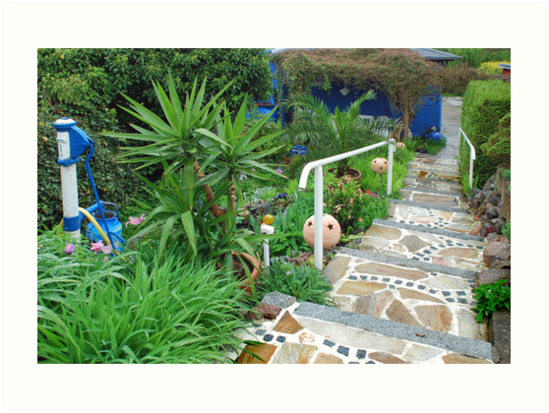 Garden with a stair by Arie Koene