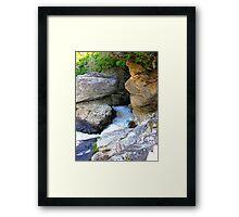 Linville Falls, North Carolina, U.S.A. Framed Print