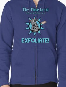 The Time Lord Salon and Day Spa Zipped Hoodie