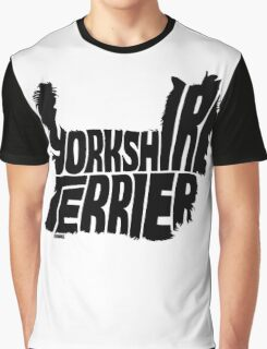 Yorkshire Terrier Black Graphic T-Shirt