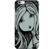 Saschia Sparkleberry - Black and White iPhone Case/Skin