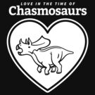 Love in the Time of Chasmosaurs logo: white by David Orr