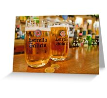 100 Percent Family Owned Brewery - Estrella Galicia Greeting Card