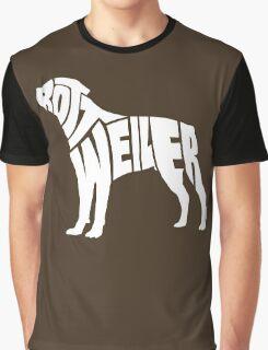 Rottweiler White Graphic T-Shirt