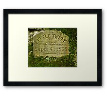 Little Twist Grave Gomez Mill House Framed Print