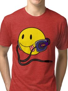 Smiley Headphone Tri-blend T-Shirt